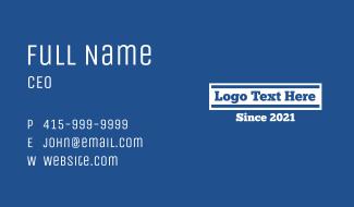 College School Wordmark Business Card