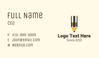 Pencil Piano Keys Business Card