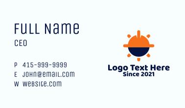 Engineering Hard Hat Business Card