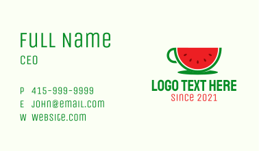 Watermelon Drink Cup Business Card