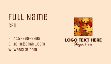 Autumn Dry Leaves Business Card
