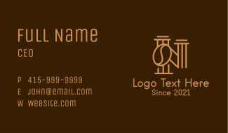 Gold Letter N Coffee  Business Card