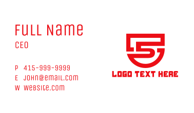 Security Number 5 Business Card