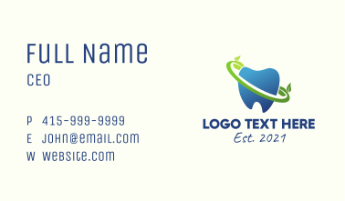 Organic Oral Care  Business Card