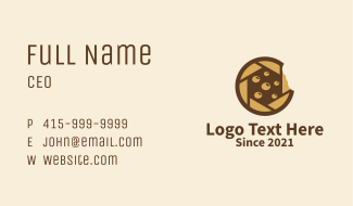 Brown Cookie Camera Business Card