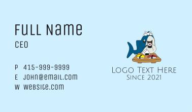 Sushi Shark Mascot  Business Card