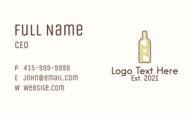 Wine Bottle Liquor Business Card