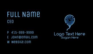 Blue Thumbmark Balloon Business Card