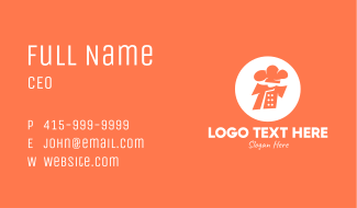 Orange Chef Uniform Business Card