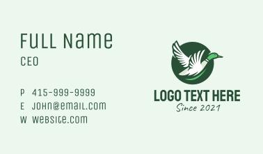 Flying Duck Emblem Business Card