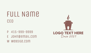 Hot Coffee House  Business Card