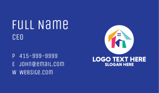 Colorful Modern Housing Business Card