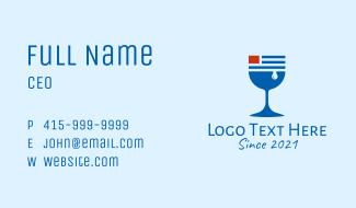 American Wine Glass  Business Card