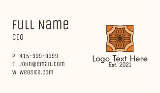 Square Textile Design  Business Card