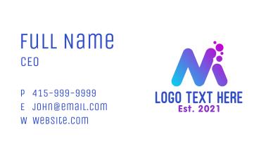 Messaging App Letter M Business Card