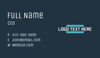 Solar Panel Wordmark Business Card