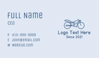 Blue Minimalist Motorbike Business Card