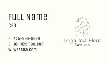 Romantic Couple Line Art Business Card