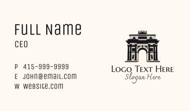 Paris Arch Landmark Business Card