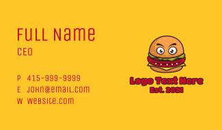 Monster Burger Restaurant Business Card