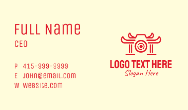 Temple Camera Lens Business Card