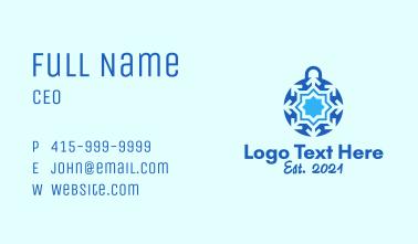 Crystal Ball Snowflake Business Card