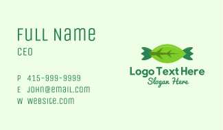 Eco Candy Leaf Business Card