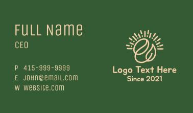Coffee Bean Leaf Business Card