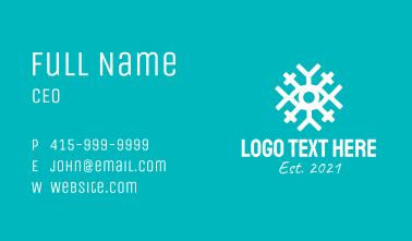 White Snowflake Eye Business Card