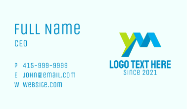 Corporate YM Letter Business Card
