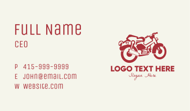Red Vintage Motorcycle Business Card