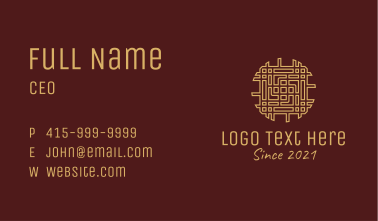 Gold Woven Ornament  Business Card