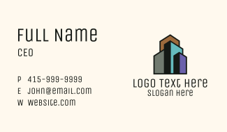 Minimalist Real Estate Building Business Card