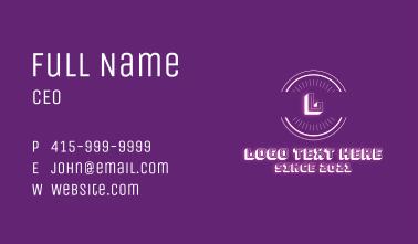 Retro Neon Letter Business Card