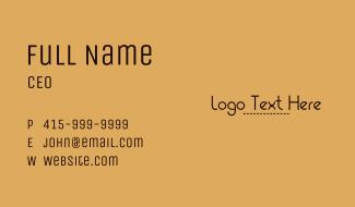 Minimalist Brown Patch Wordmark Business Card