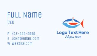 Boat Tuna Fish Business Card