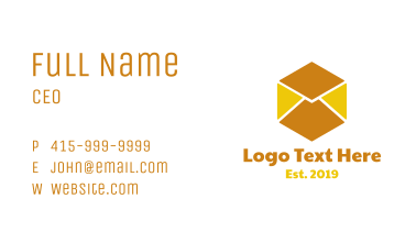 Cube Mail Business Card