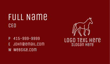 White Wild Horse Business Card