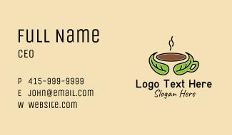 Herbal Hot Coffee Business Card