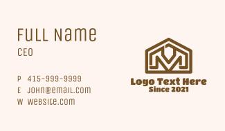 Letter M Home Builder Business Card