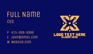 Yellow Digital Star  Business Card