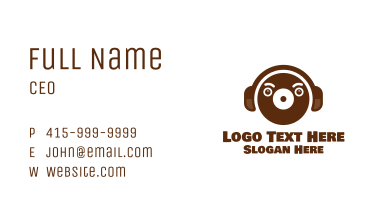 Brown Bear Recording Business Card