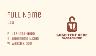 Red Meat Lock Business Card