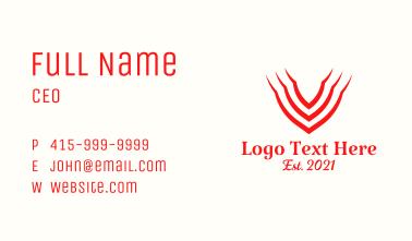 Minimalist Letter V Shield Business Card