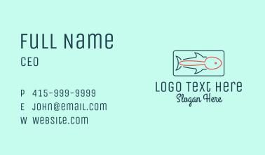 Fish Restaurant Outline  Business Card