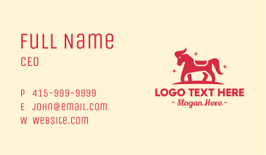 Star Horse Pony Business Card
