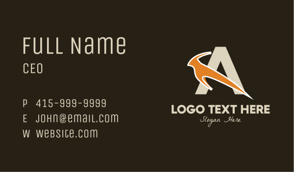 antelope - Antelope Letter A Business card horizontal design