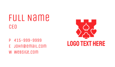 Tower Card Symbols Business Card