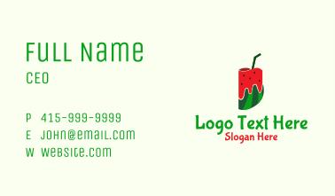 Watermelon Juice Cup Business Card