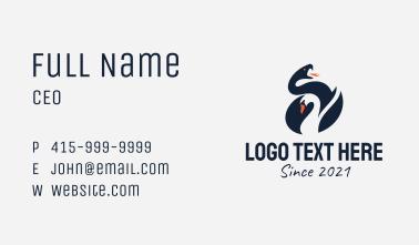 Swan Snake Badge  Business Card